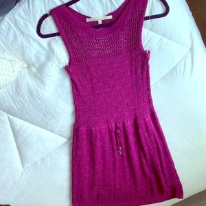 RACHEL Rachel Roy Fuchsia Crochet Knit Dress XS